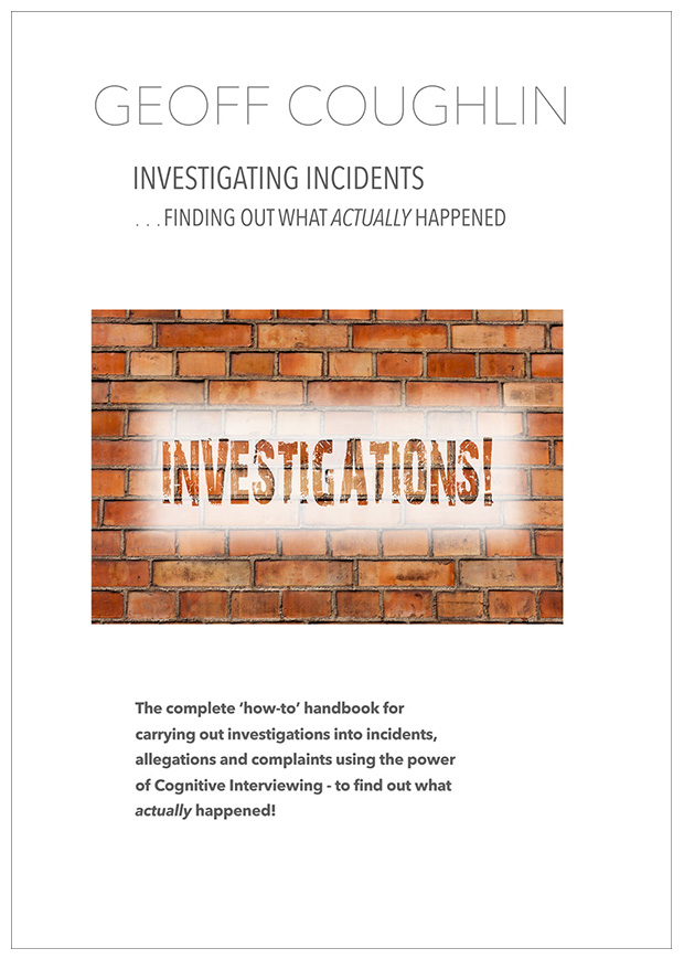 Investigating Incidents - Finding Out What Actually Happened